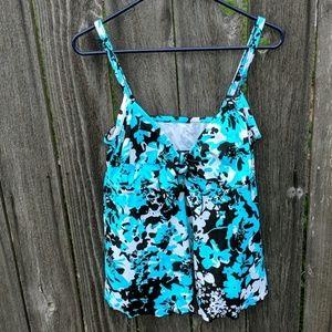 Maxine Hollywood Swimsuit Top Tankini Bikini 16W